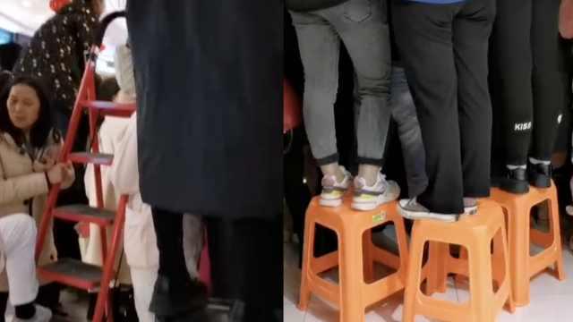 刘昊然南昌路演,粉丝买空超市凳子