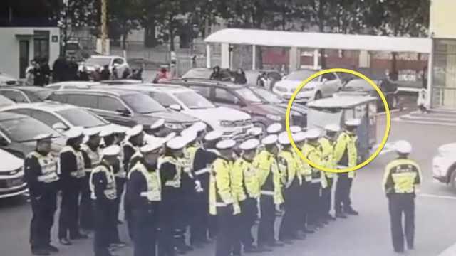 他酒驾闯入交警晨会,被30交警看着