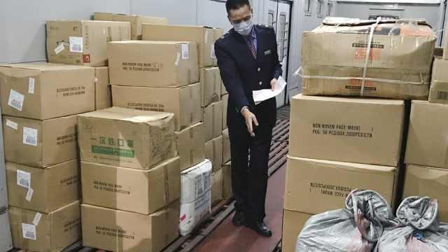 广西:63箱20万副N95口罩发往武汉