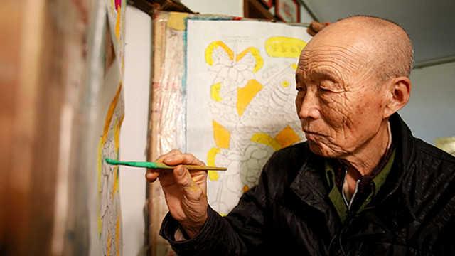 缸鱼爷爷王学勤和他的木版年画