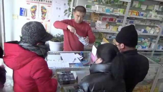 药店发40斤消毒液,数万口罩免费送