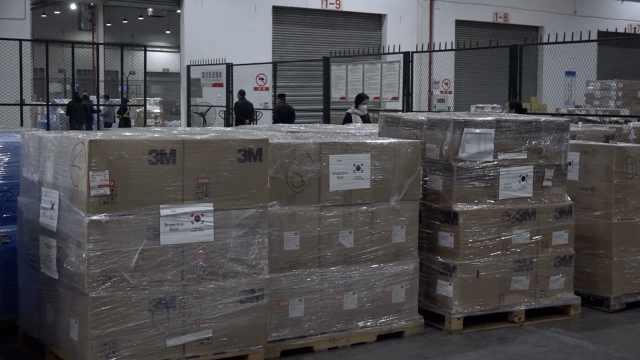 韩国外交部向重庆捐赠医疗防护物资