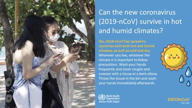 WHO:新冠病毒不怕炎热湿润的天气