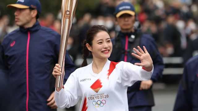 奥运圣火传递彩排,石原里美亮相