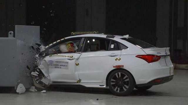 中保研轿车测试:奇瑞北汽并列倒数