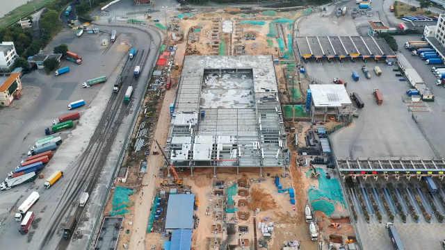 深圳皇岗口岸重建项目复工进行时