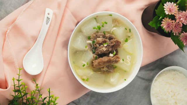 冬瓜羊肉片汤口味清淡,风味鲜美