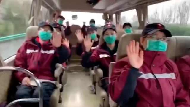 敲锣打鼓迎接!陕西医疗队直接入住疗养院,将隔离14天