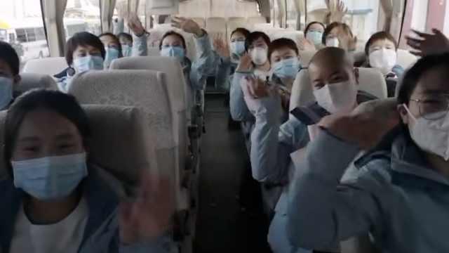 青海援湖北医疗队平安归家,医护听欢迎锣鼓声感动流泪