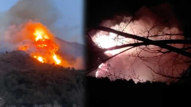 北京延庆突发山火,400人前往扑救