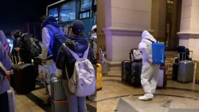 归国路|留英学生穿雨衣回国落地泪目:防疫人员太贴心
