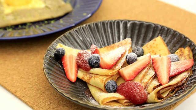 法式可丽饼:咸甜两式,搞定全家早餐