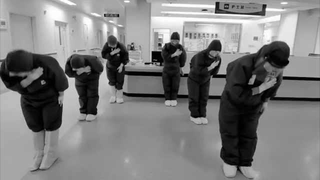 陕西医疗队最后一个夜班跳舞告别:121人援鄂一个都没少