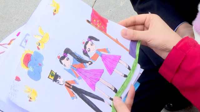 最暖心的礼物! 6岁女儿作画迎接援鄂妈妈,每周1幅