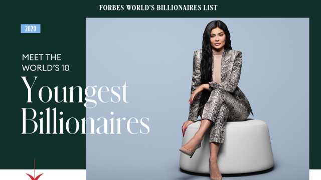 福布斯全球最年轻十大亿万富豪:22岁凯莉·詹娜最小