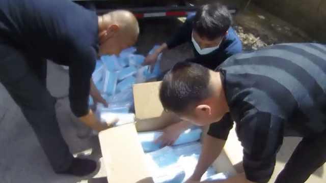 民警高速查获65万只三无口罩:价值73万,由湖北发往深圳