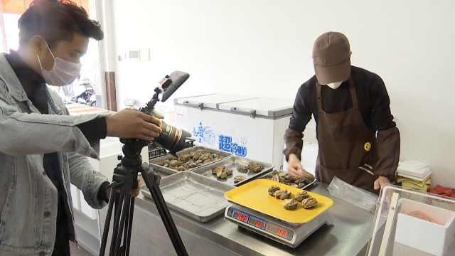 疫情下鲍鱼丰收难销,小伙拍视频帮养殖户减损