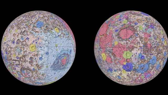 你见过彩色的月球吗? 首份月球地质综合图出炉