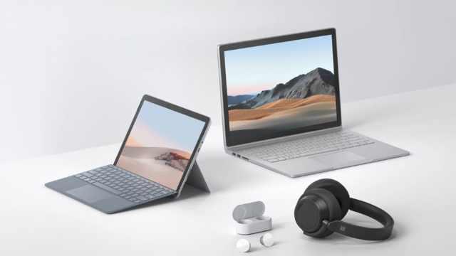 微软更新Surface全家桶:Book 3显卡升级,Go 2收窄边框