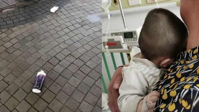 女婴被洗发水砸中正进行重症监护,物业:抛物者未现身