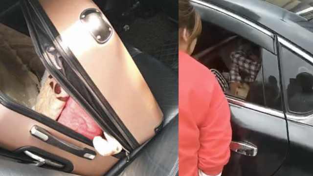 乘客行李箱中传出女孩呼救声,网约车司机霸气解救,警方通报