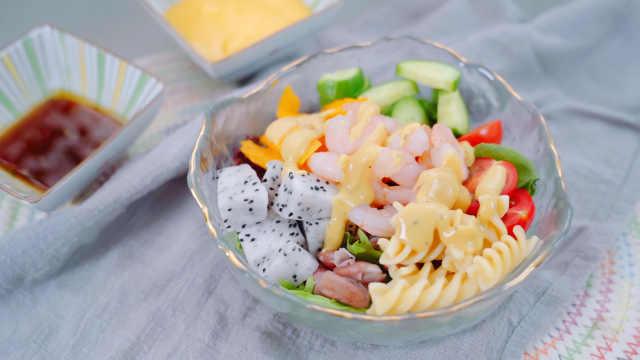 夏日必备低脂鲜虾芒果沙拉,酸甜鲜嫩,越吃越瘦!