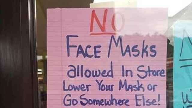 美国多地商店禁止戴口罩顾客入内,公然违反疫情规定