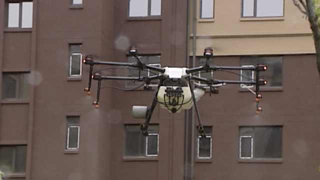吉林高风险地区出动无人机消毒,50多家物业预约已排到6月份
