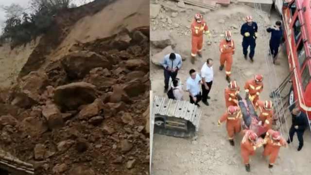 云南大姚山体滑坡压垮房屋,女子和婴儿被埋