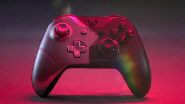 《赛博朋克2077》一瞥:Xbox限定主题手柄发布