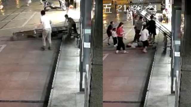 女子回应救陌生小孩手撑玻璃门被砸晕:住院12天,系母亲本能