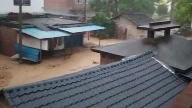 阳朔县城城区内涝严重