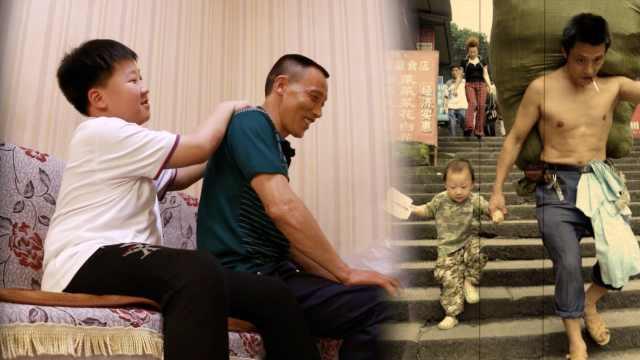 还记得重庆这对棒棒父子吗?父亲拒做网红,仍