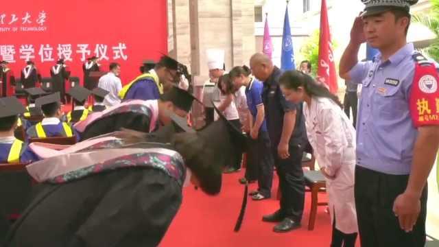 网红教授郑强提议成现实,毕业生向宿管保安厨师鞠躬