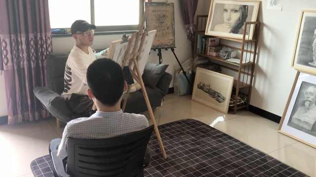 男孩为治白血病从中国美院退学,替人画肖像自救:活着就好