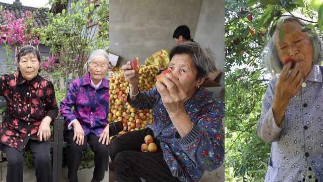 中国吃货**:86岁阿婆上树摘杨梅吃,98岁**无辣不欢