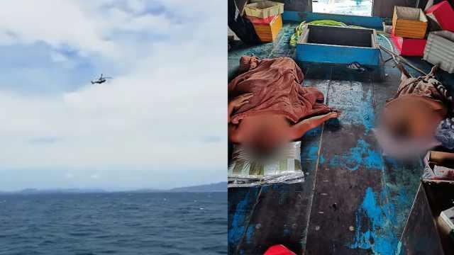 海南一渔船沉没5人落水2人获救,搜救仍在进行