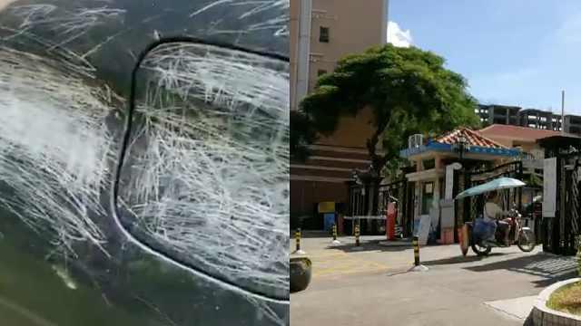 东莞一小区30多辆车遭熊孩子划伤,不少被划车辆仍在原地
