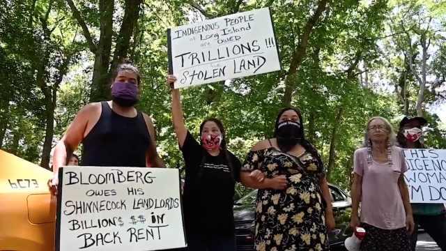 纽约数百人聚集布隆伯格家门口抗议,要求向亿