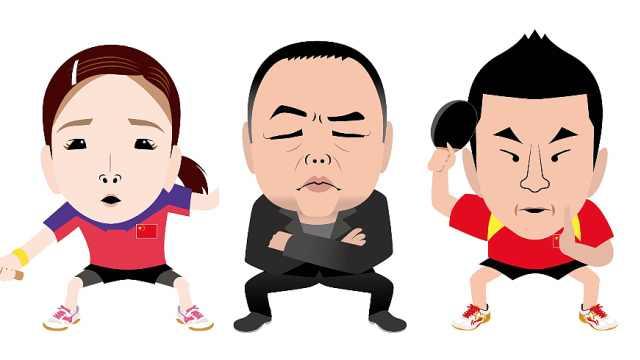 专攻乒乓球运动员,日本灵魂漫画家创作丑萌画像