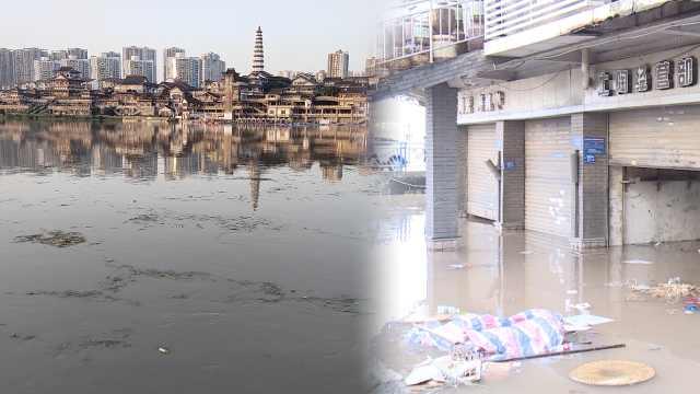 实拍洪水过境重庆!磁器口十年老饭店年年被淹,老板不舍离开