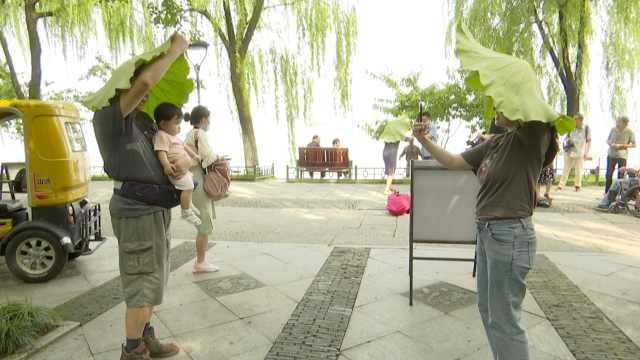 杭州人凌晨5点排队买西湖莲蓬荷叶,半小时就抢空