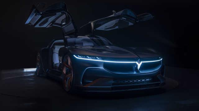 岚图汽车首款概念车来了,拥有Model X同款鸥翼门