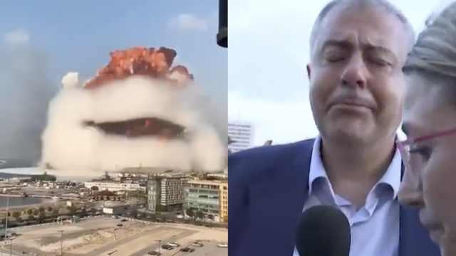 贝鲁特市长爆炸现场流泪:未见过如此灾难,场景如同广岛爆炸