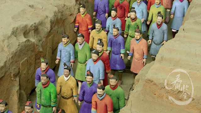 兵马俑原来是彩色的?难道不是秦始皇的陪葬吗?