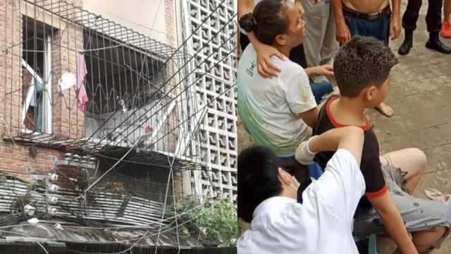 贵阳一居民楼突发爆炸, 一家四口受伤,小儿子