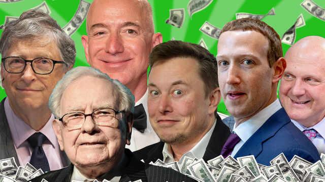 美国12大富豪财富总和超1万亿美元:这是个令人不安的里程碑