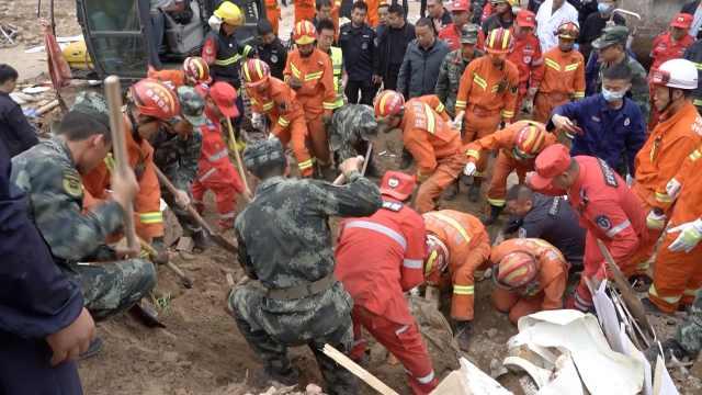 陕西志丹县土畔坍塌4人被埋死亡,3间房屋垮塌