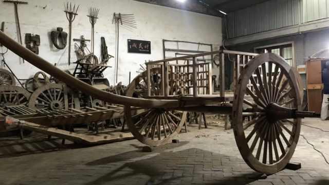 68岁老人花3年复原2000年前战车:家族做木工120年了