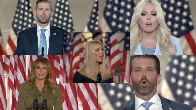 全家老小齐上阵!2分钟回顾特朗普一家子如何为大选拉票